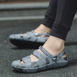 Ericdress PVC Camouflage Slip-On Round Toe Mens Sandals