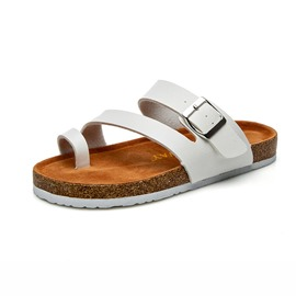 Ericdress PU Toe Ring Slip-On Buckle Women's Slippers