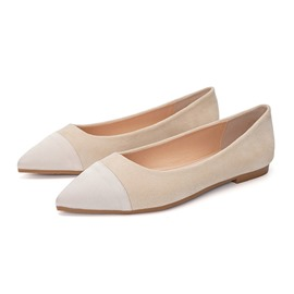 Ericdress PU Color Block Pointed Toe Women's Flats