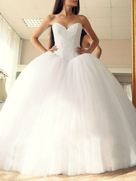Ericdress Sleeveless Ball Gown Sweetheart Hall Wedding Dress 2019