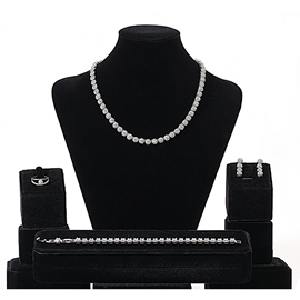 Gemmed European Necklace Jewelry Sets