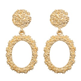Ericdress Alloy E-Plating Hoop Earrings