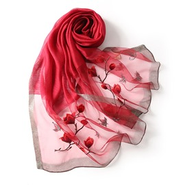 Ericdress Silk Ladylike Floral Scarves