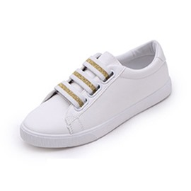 Ericdress PU Elastic Band Round Toe Women's White Shoes