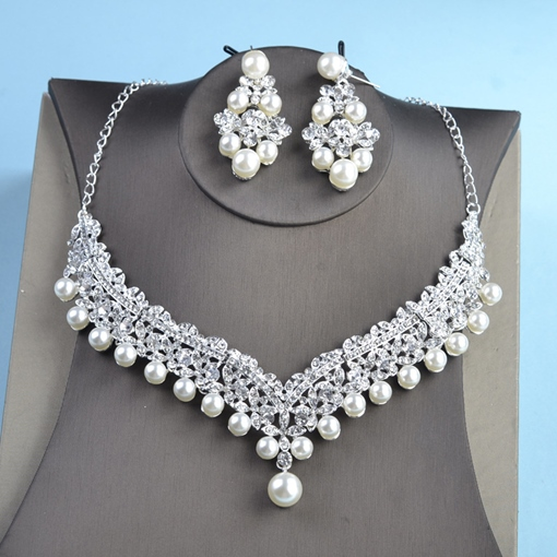 European Earrings E-Plating Jewelry Sets