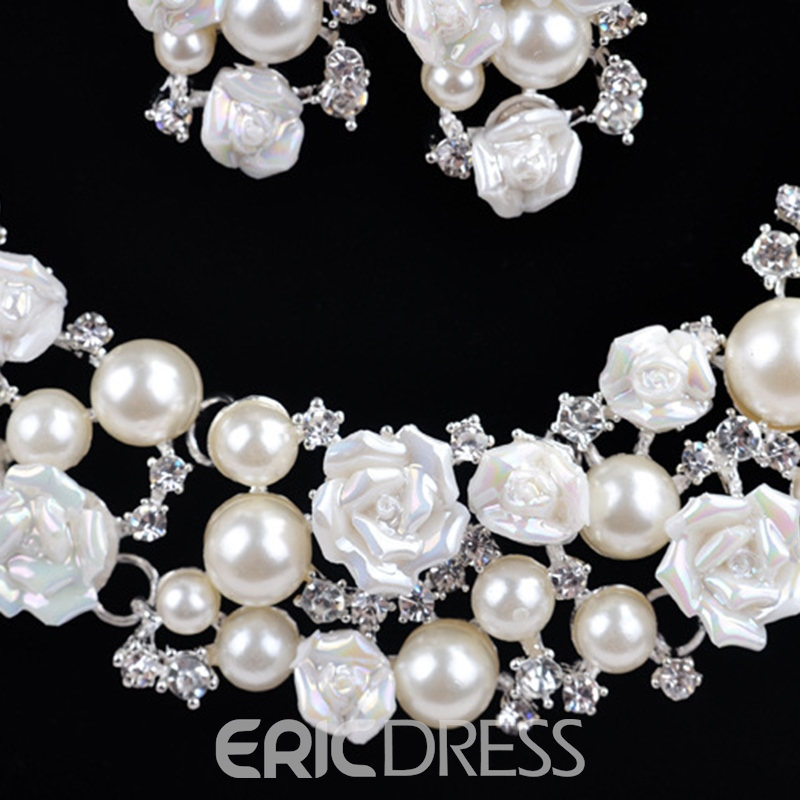 E-Plating Korean Floral Jewelry Sets (Wedding)