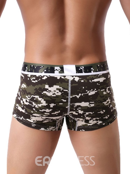 Ericdress Cotton Print Low Waist Boyshort Underwear Boxers