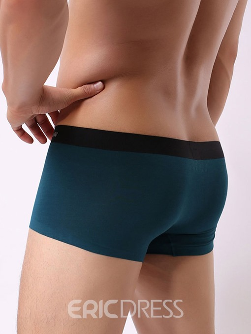 Ericdress Modal Plain Boyshort Low Waist Underwear Boxers