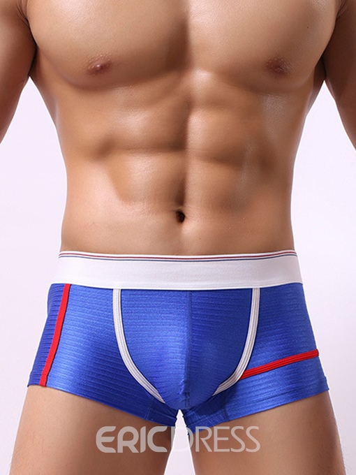 Ericdress Stripe Patchwork Trunks Boyshort Low Waist Underwear
