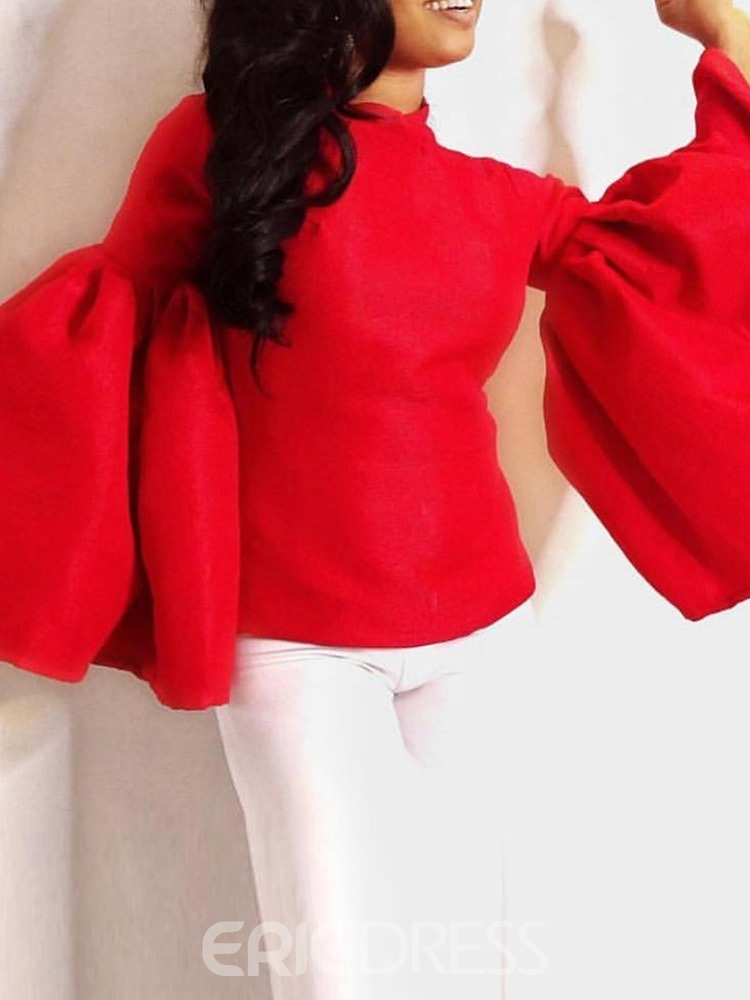 Ericdress African Fashion Plain Flare Sleeve Blouse