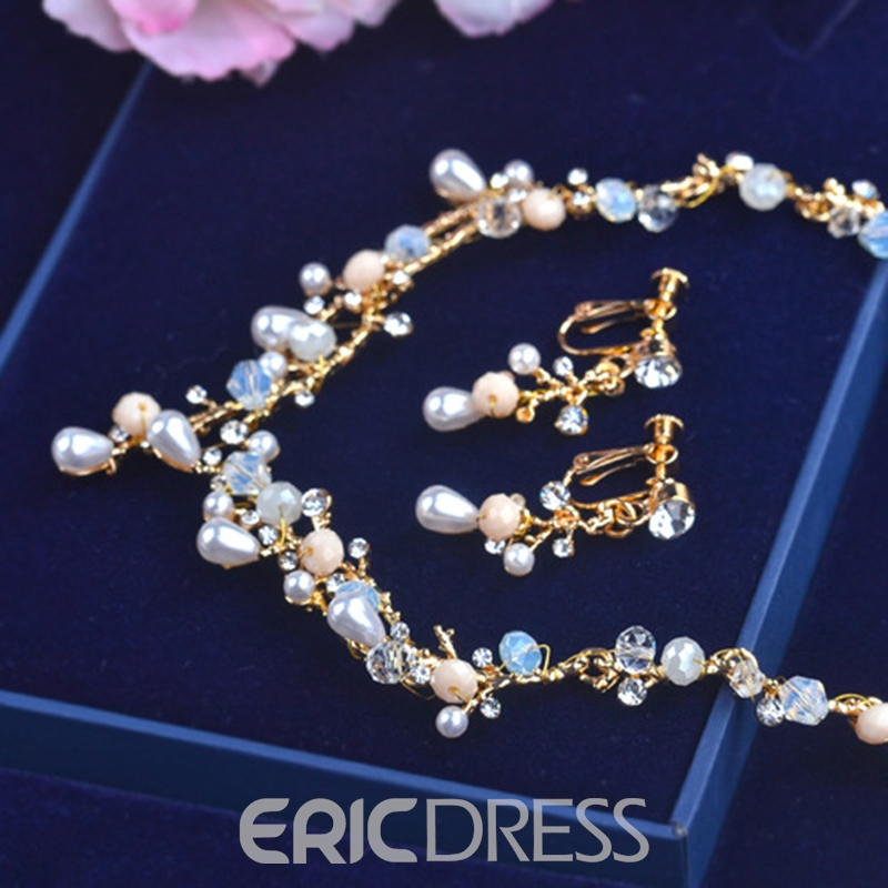 Earrings Water Drop E-Plating Jewelry Sets