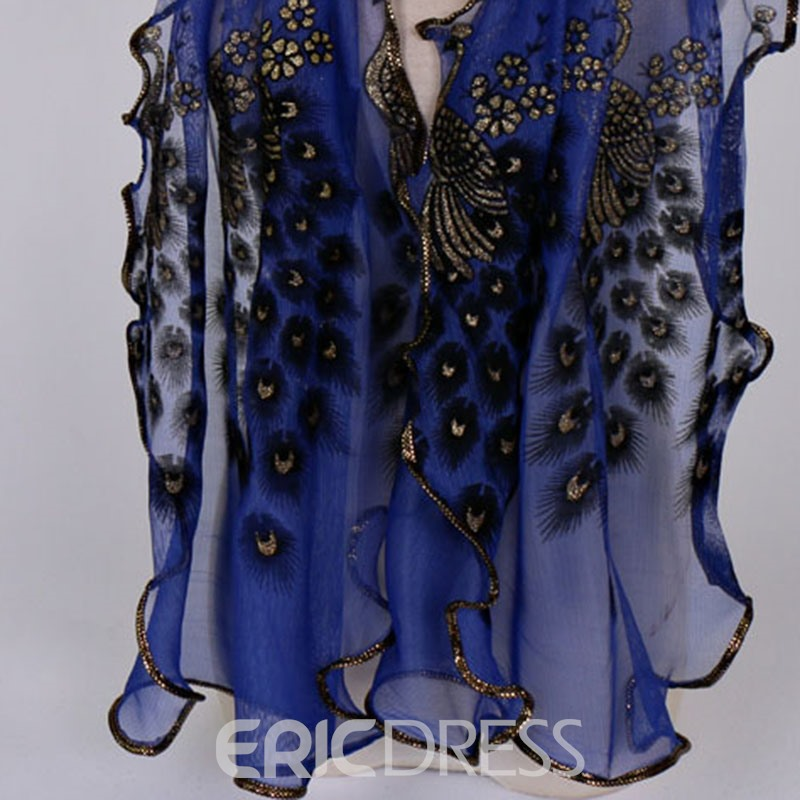 Ericdress Lurex Animal Embroidery Scarf