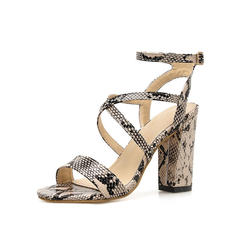 Ericdress Serpentine Buckle Ankle Strap Stiletto Heel Women's Sandals
