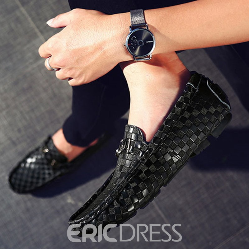 Ericdress Plain Sequin Men's Loafers Shoes