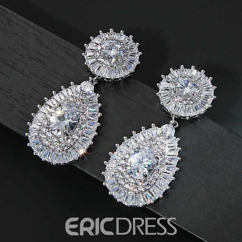 Ring Floral Gemmed Jewelry Sets (Wedding)