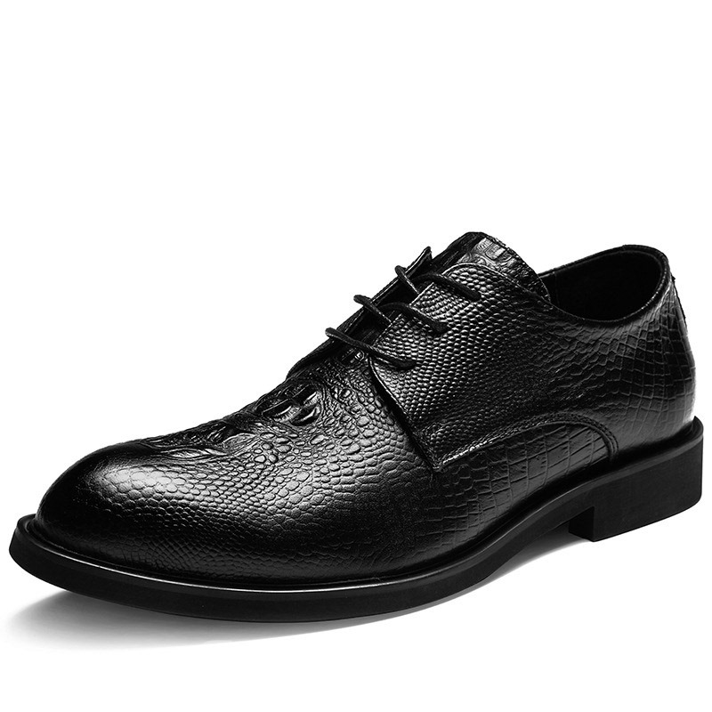 Ericdress PU Round Toe Lace-Up Men's Dress Shoes