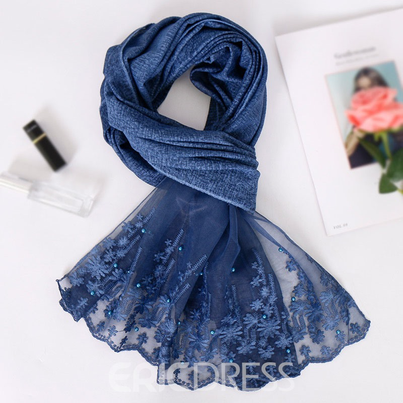 Ericdress Bead Ethnic Embroidery Floral Scarf