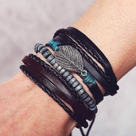 Ericdress Multilayer Woven Male Bracelets