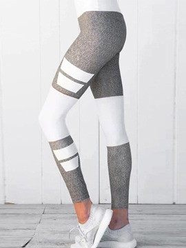 ericdress mujeres color block impreso gimnasio leggings deportivos
