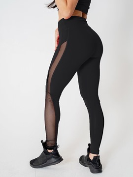 Ericdress Breathable Mesh Patchwork Full Length Leggings