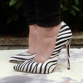 Ericdress Zebra Print Stiletto Heel Pointed Toe Pumps