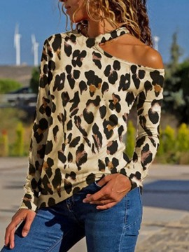 Ericdress Long Sleeve Leopard Slim Fashion T-Shirt