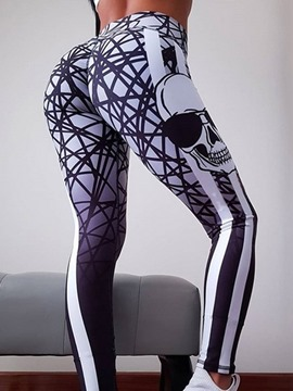 Ericdress Color Block Print Full Length Gym Sports Leggings