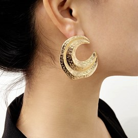 Ericdress Golden Moon Earrings