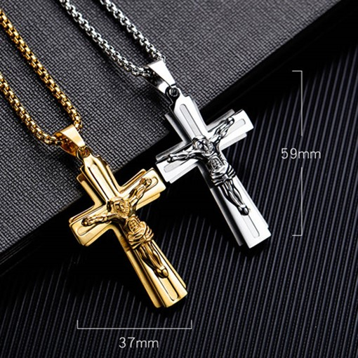 Ericdress Alloy Cross Male Necklace