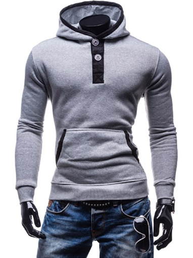 Ericdress Plain Pullover Men's Hoodies