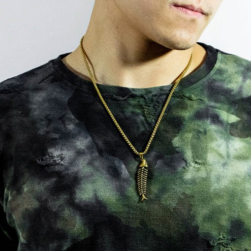 Ericdress Fish Animal Male Necklace
