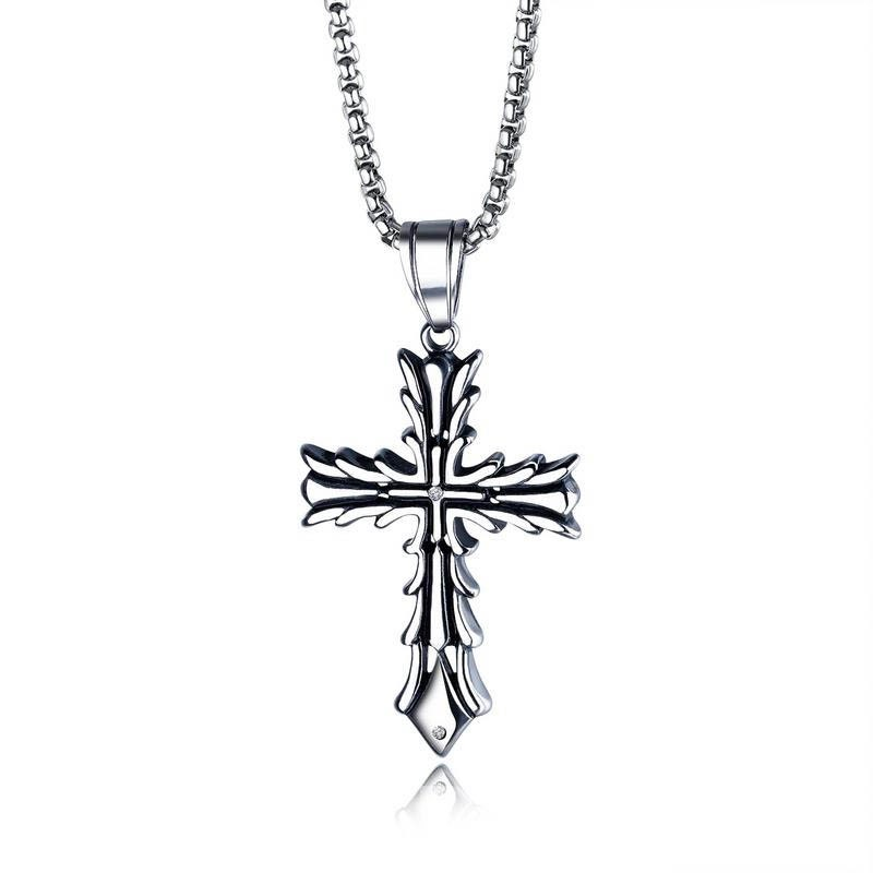 Ericdress Cross Pendant Necklace For Men