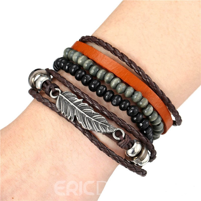 Ericdress Beads Woven Bracelets For Men