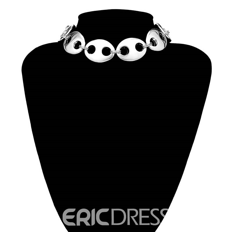 Ericdress Pig Nose Choker Necklace