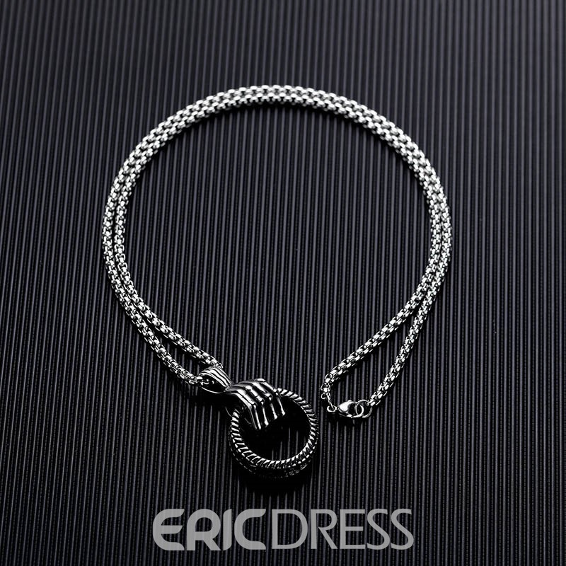 Ericdress Hip Hop Claw Ring Necklace