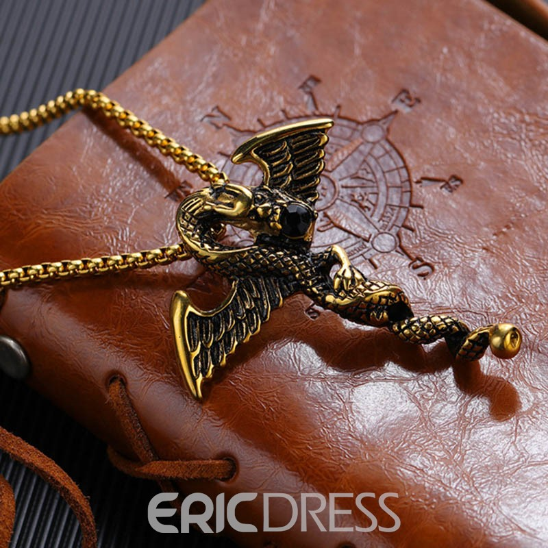 Ericdress Dragon Animal Male Necklace