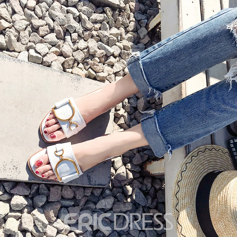 Ericdress Sequin Slip-On Women's Flat Sandals