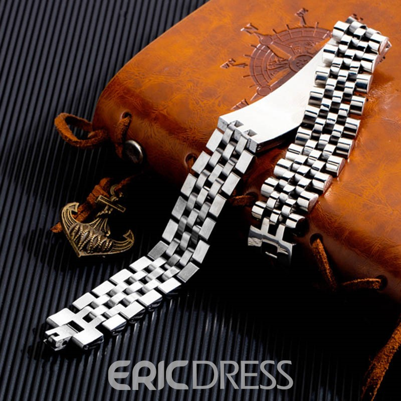 Ericdress Steel Plain Male Bracelet