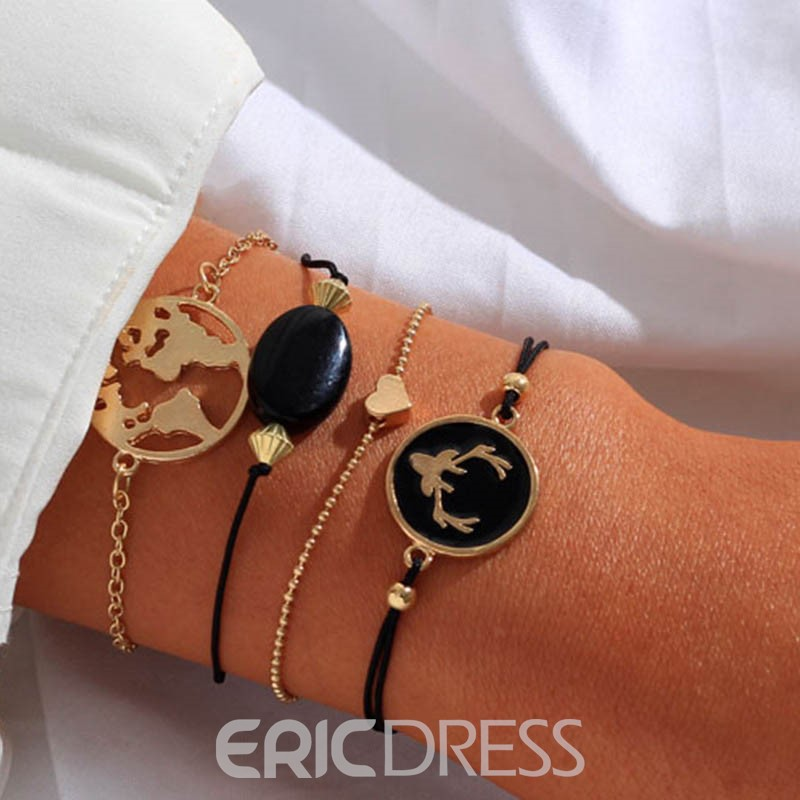 Ericdress E-Plating Women Map Bracelet Set