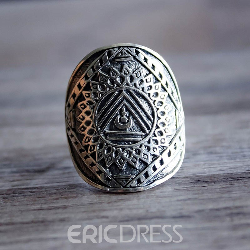 Ericdress Alloy Gemmed Vintage Ring Set
