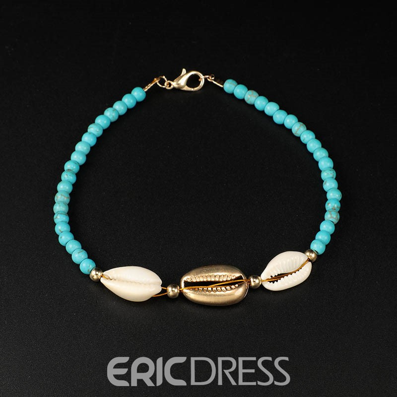 Ericdress Woven Beads Conch Anklet