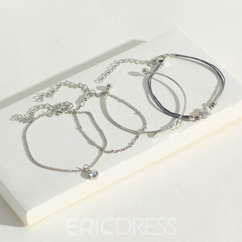 Ericdress Fish Dimante Heart Bracelets