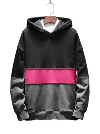 Ericdress Color Block Pullover Men's Casual Hoodies