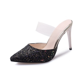 Ericdress Sequin Slip-On Stiletto Heel Women's Mules Shoes