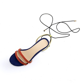 Ericdress Color Block Cross Strap Women's Flat Sandals