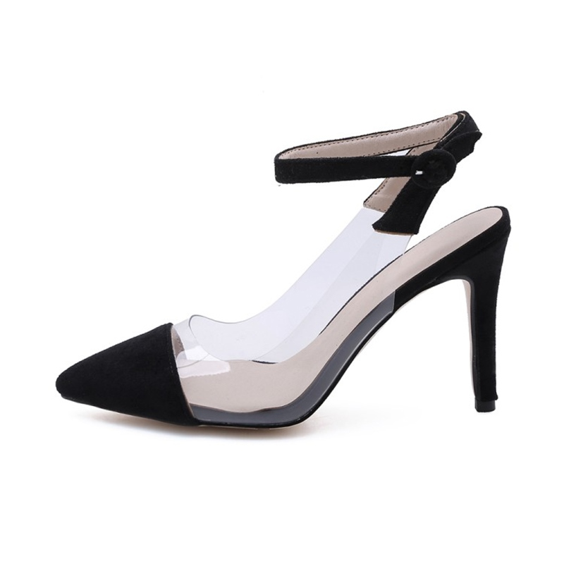Ericdress PU Anknle Strap Stiletto Heel Pointed Toe Women's Pumps