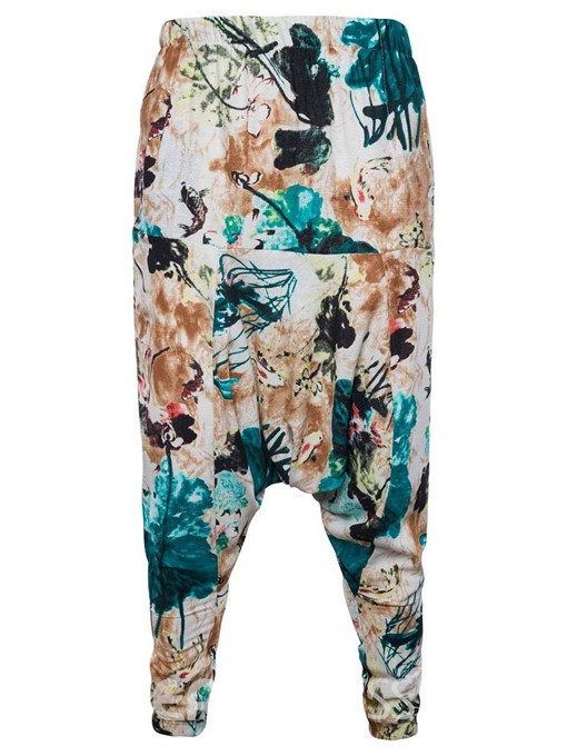 Ericdress Floral Print Mens Summer Baggy Pants