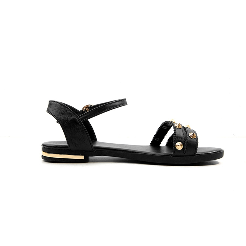 Ericdress PU Rivet Block Heel Women's Flat Sandals