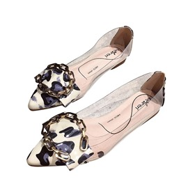 Ericdress Leopard Print Block Heel Pointed Toe Women's Flats