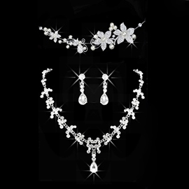 Necklace Diamante Korean Jewelry Sets